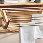 Accordion style laundry room clothes hanger racks designs