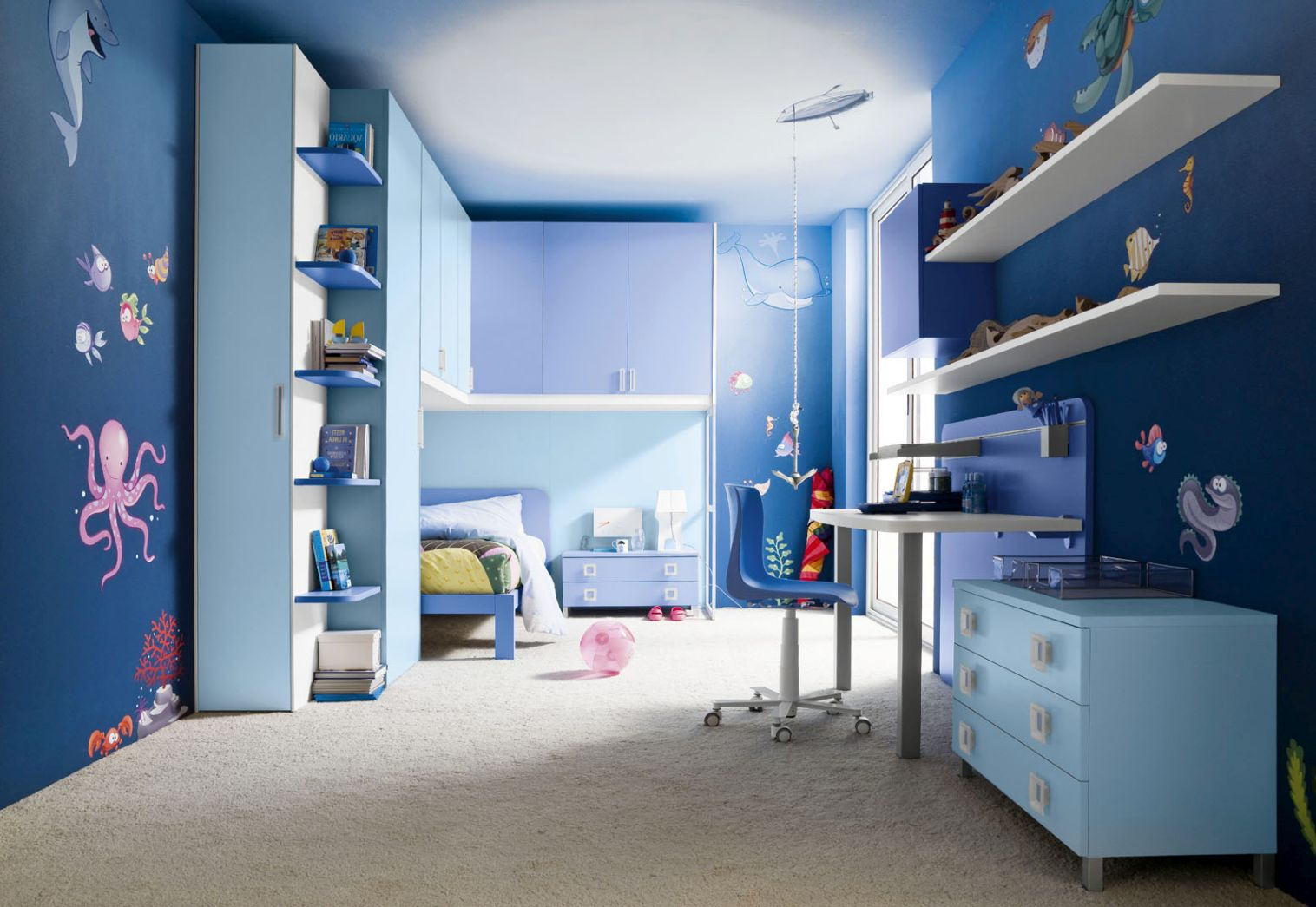 Amazing ocean blue room decor ideas for teenage boys - Ideas for room decoration ...