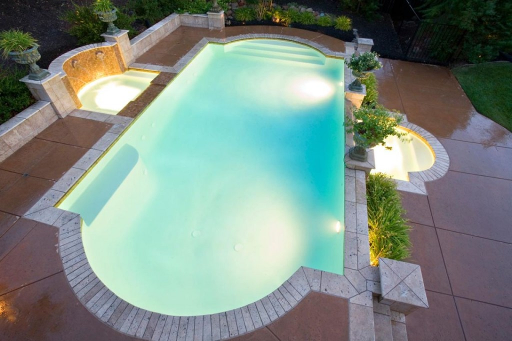Amazing view of Formal grecian style pool pictures