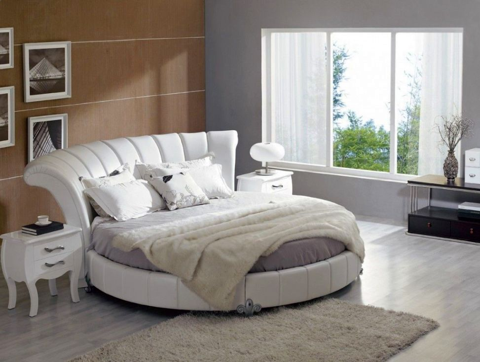 13 unique round bed design ideas for Bedroom bed design