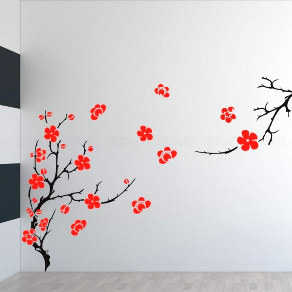 Beautiful Sakura tree DIY Indoor Wall Painter