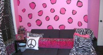 Candy pink leopard pattern DIY Indoor Wall Painter