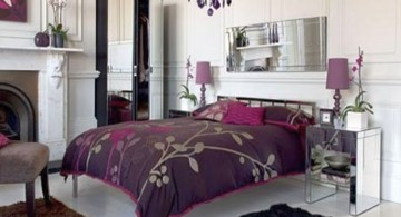 Classic Luxury Bedroom with Purple Color