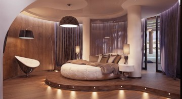 Exciting Bedroom Interior with Unique Round Bed Designs