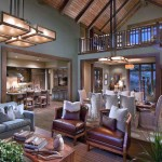 Fabulous vaulted ceiling framing design with multiple lighting