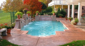 Formal Roman ocean blue grecian 3-tier floating pool fountain