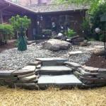 Great front garden gardening with rocks ideas