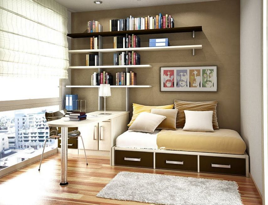 14 smart home office in bedroom design ideas - Amenagement petit espace ikea ...