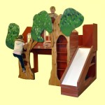 Joyful Treehouse-Themed Modern Bunk Bed for Kids by Trevor