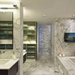 Luxurious modern bathroom interior designs with granite floor