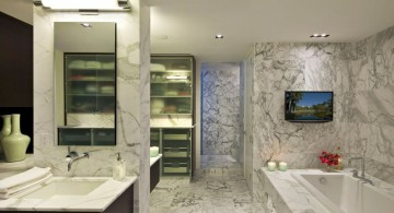 Luxurious modern bathroom interior designs with granite floor