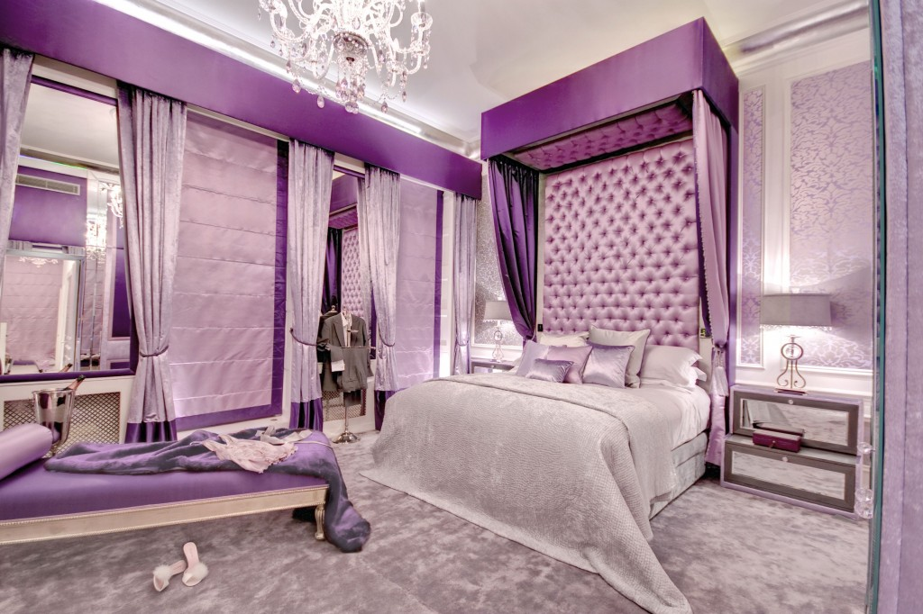 15 luxurious bedroom designs with purple color for Purple bedroom designs modern