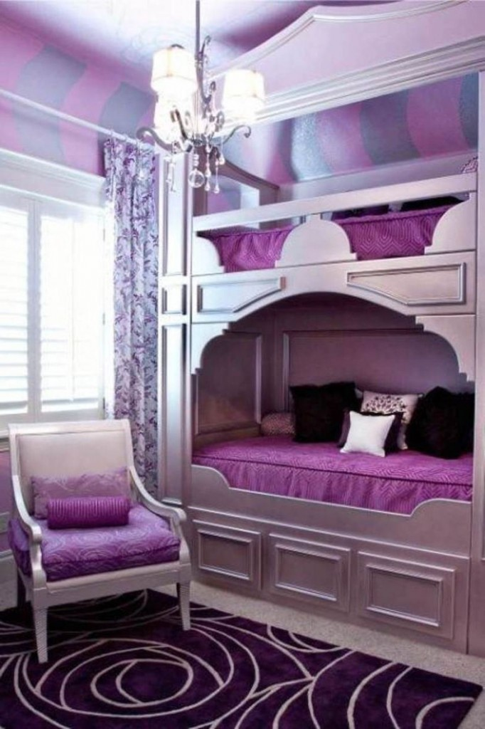 Luxury Bedroom with Purple Color with nice classic touch-up