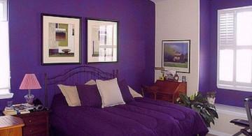 Luxury Bedroom with Purple Colored Interior