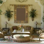 Mediterranean Home Decor with low chairs