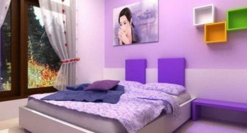 Minimalist Luxury Bedroom with Purple Color for Young Girls