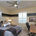 Minimalist and Modern RoomDecorIdeas forTeenage Boys Using Black Quilted Sheet