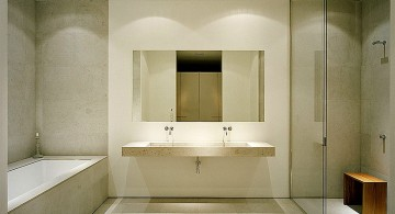 Minimalist and simplistic modern bathroom interior