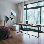 Minimalist home office as part of master bedroom decoration