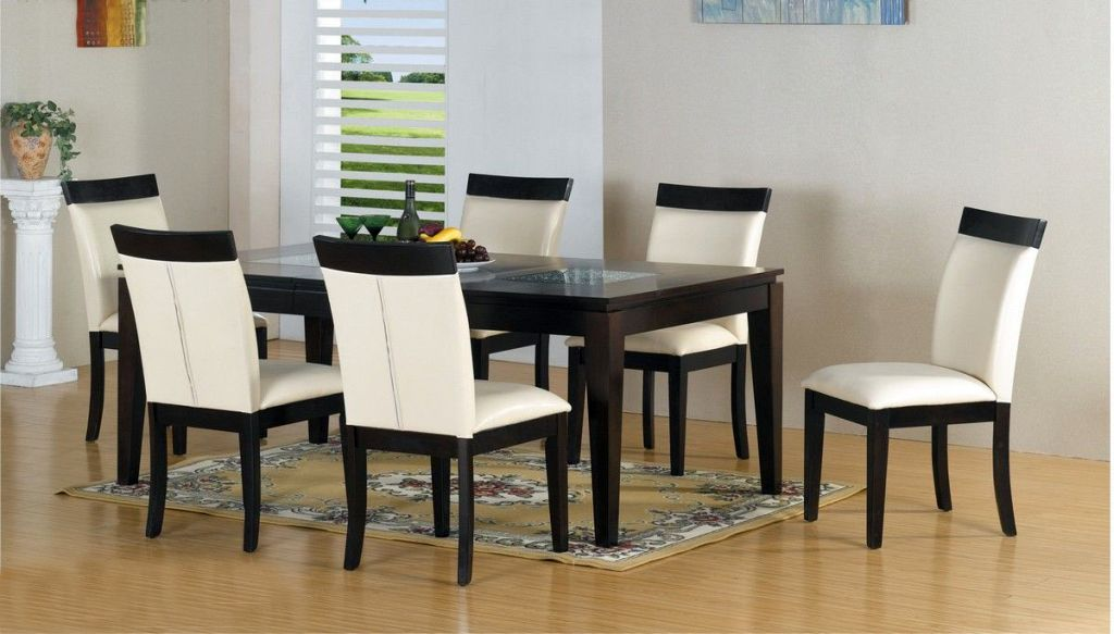 White Dining Table Chairs Costilla High Gloss