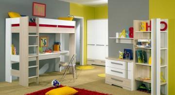 ModernKidsLoftBedsDesign with Work Desk Underneath