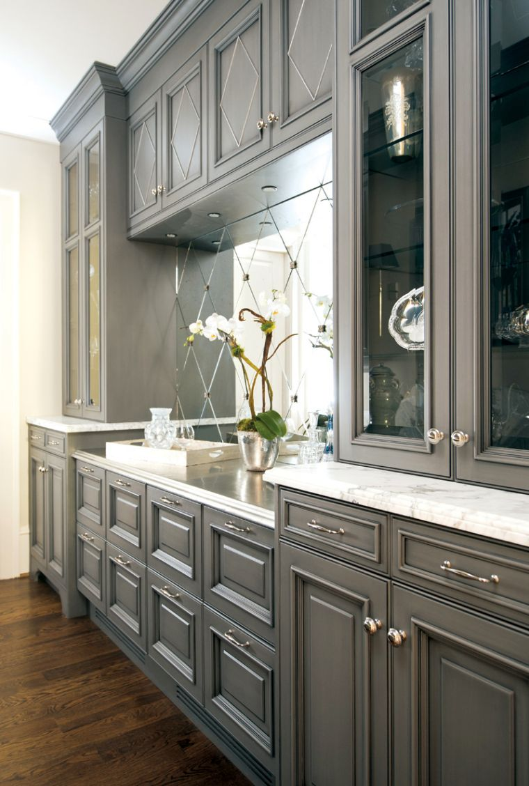 17 Superb Gray Kitchen Cabinet Designs