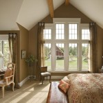 Modern vaulted ceiling master bedroom ideas giving warm feeling