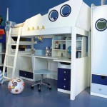 Nautical RoomDecorIdeas forTeenage Boys Incorporating Blu Bunk Bed for Kids