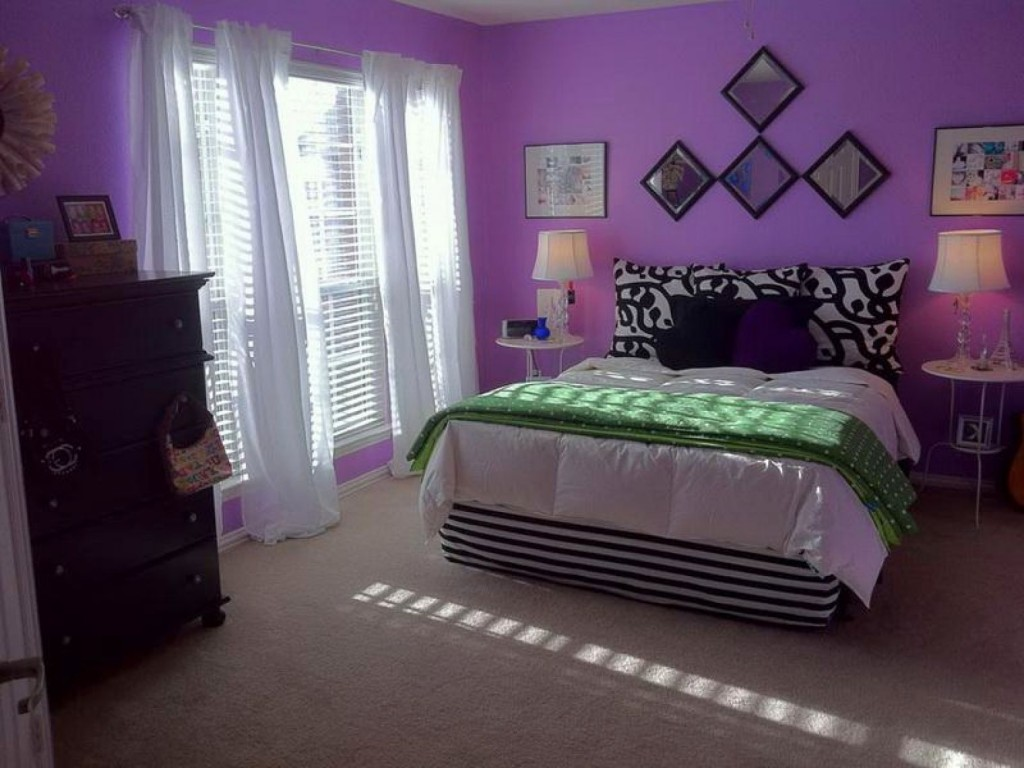 15 luxurious bedroom designs with purple color - Purple room for girls ...