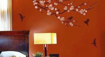 Sakura and bird DIY Indoor Wall Painter