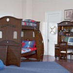 Shiver Me Timbers Set Is Modern Kids Loft Beds with Pirate Ship Design by Powell