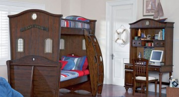 Shiver Me Timbers Set Is ModernKidsLoftBeds with Pirate ShipDesign by Powell