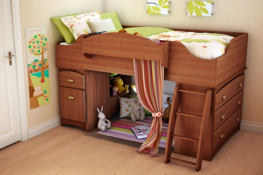 14 adorable modern loft beds design ideas for your kids for Designs of beds for teenagers