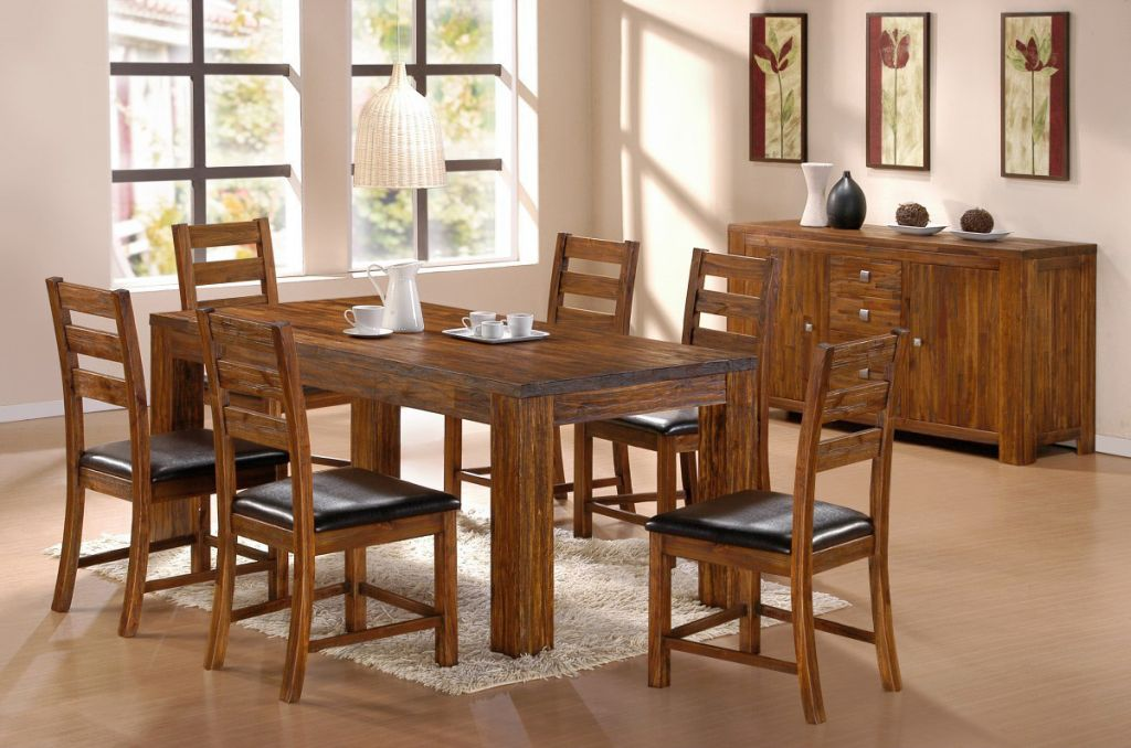 Simple dining table chairs designs for Simple dining room decor ideas