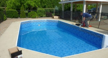 Slick and modern grecian pool liner