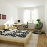 Spacey modern home office built  in master bedroom
