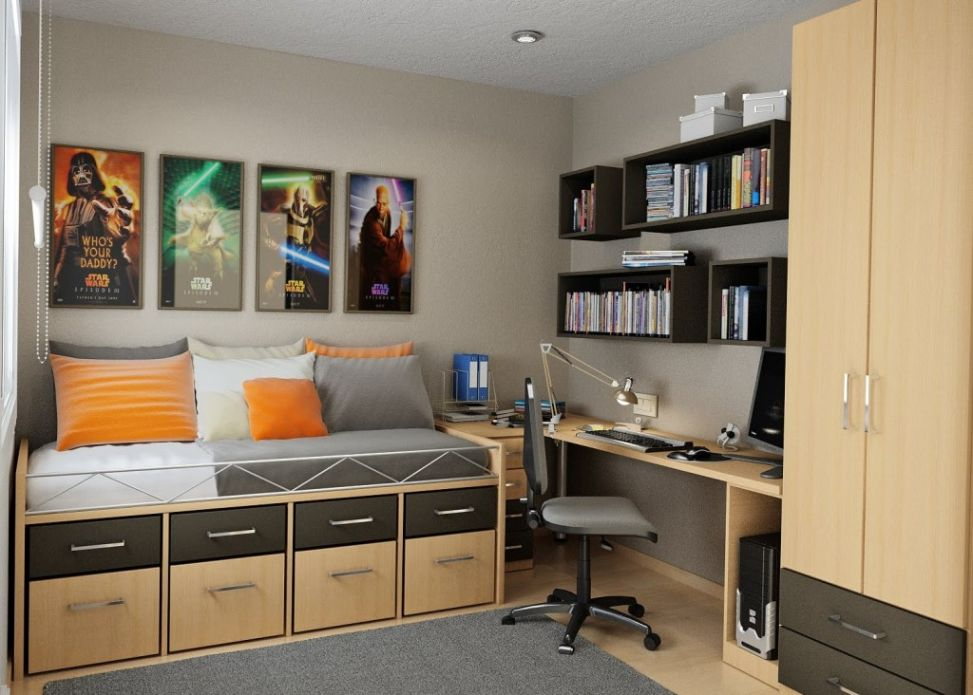 Excellent Bedroom Home Office Edeprem Com Largest Home Design Picture Inspirations Pitcheantrous