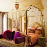 Stunning iron canopy bed design for modern bedroom interior for teens