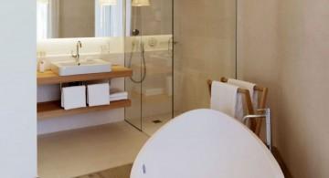Stunning picture of minimalist modern bathroom interior