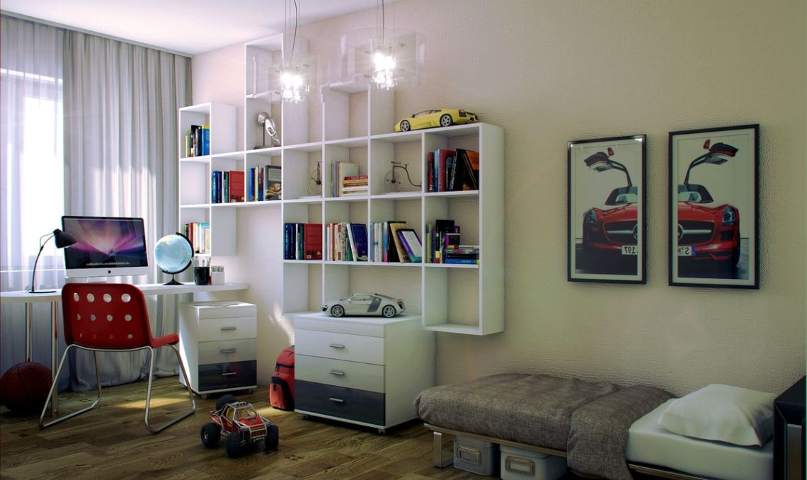 Teenage boy bedroom design ideas for small and limited space for Boys bedroom designs for small spaces