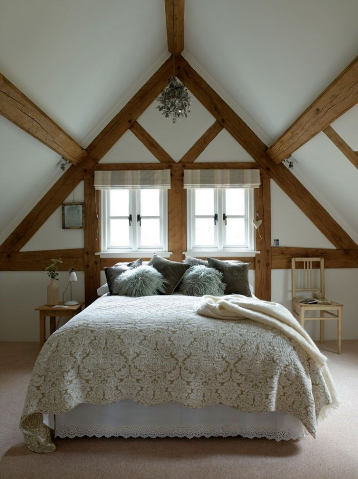 Very low vaulted ceiling bedroom smart design ideas