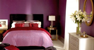 Warm and elegant Luxury Bedroom with Purple Color