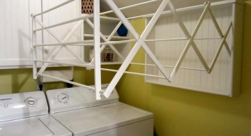 cascading accordion laundry room clothes hanger racks designs