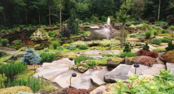 cascading rock pathway gardening with rocks ideas