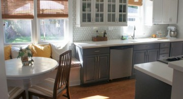 featured - White And Grey Kitchen Cabinets Design With Marble Backsplash