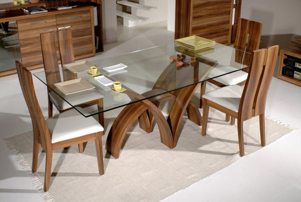 Futuristic wooden dining table chairs designs for Wooden dining table designs