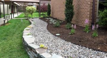 gardening with rocks ideas for side garden