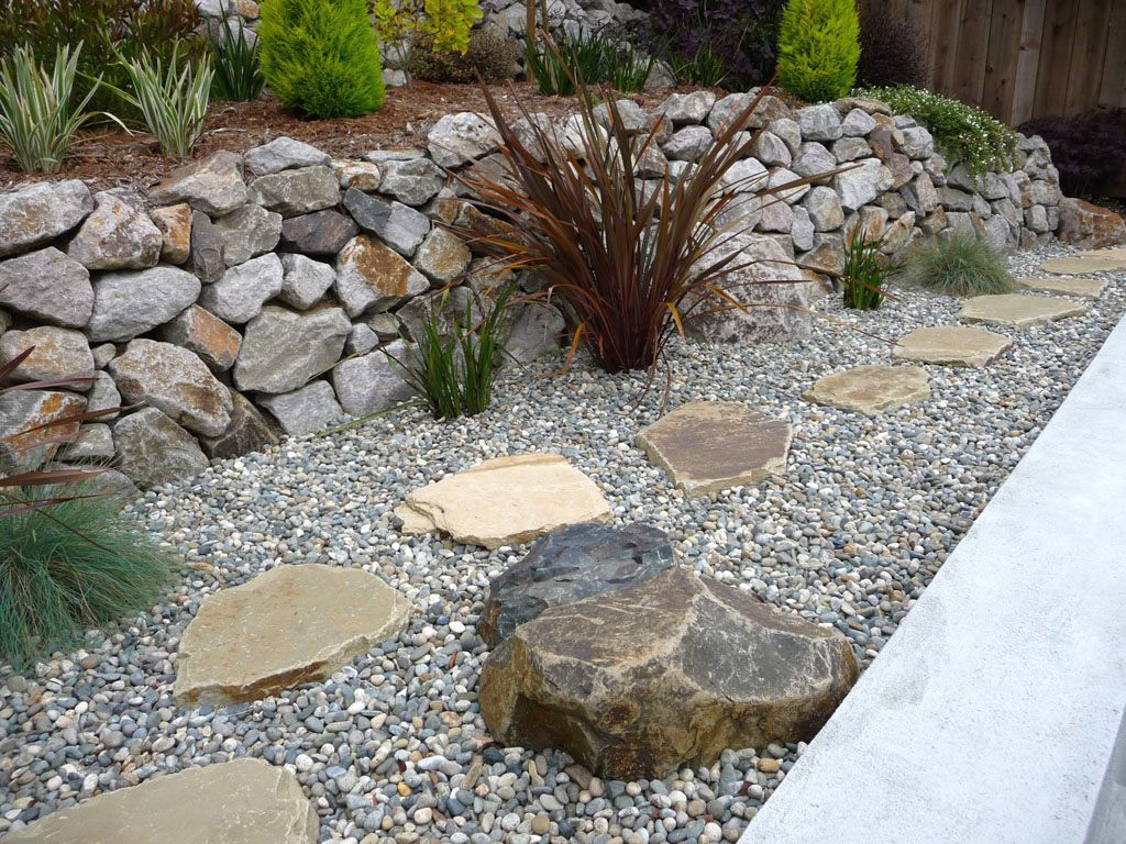 Landscaping With Rocks And Pebbles : Garden design rocks ideas gardening with
