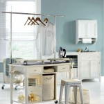 laundry room clothes hanger racks designs for small space