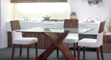 minimalistic and modern looking dining table chairs designs